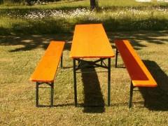 Festzeltgarnitur Set 50 orange