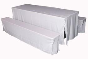 Hussen-Set 80 Polyester weiss
