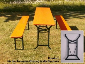 Festzeltgarnitur Set 50 UV-komfort orange